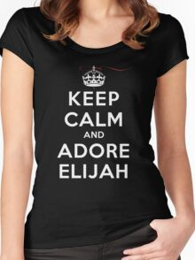 Keep Calm and Adore Elijah From Vampire Diaries DS Women's Fitted Scoop T-Shirt
