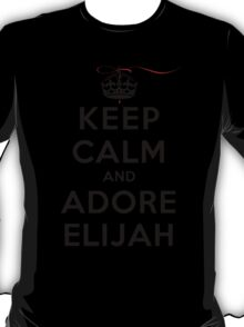 Keep Calm and Adore Elijah From Vampire Diaries LS T-Shirt