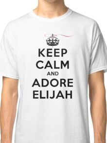 Keep Calm and Adore Elijah From Vampire Diaries LS Classic T-Shirt