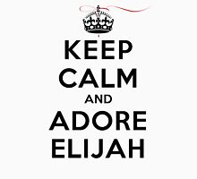 Keep Calm and Adore Elijah From Vampire Diaries LS Womens Fitted T-Shirt