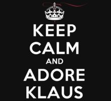 Keep Calm and Adore Klaus From Vampire Diaries DS by rachaelroyalty