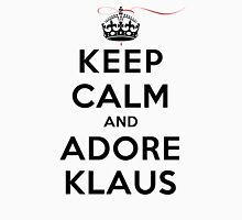 Keep Calm and Adore Klaus From Vampire Diaries LS Womens Fitted T-Shirt