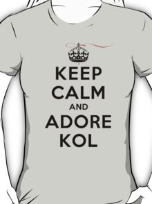 Keep Calm and Adore Kol From Vampire Diaries LS T-Shirt