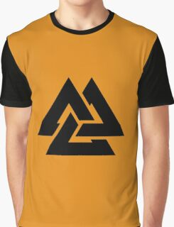 valknut tribal cool tattoo design Graphic T-Shirt