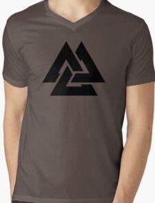 valknut tribal cool tattoo design Mens V-Neck T-Shirt
