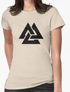 valknut tribal cool tattoo design Womens Fitted T-Shirt