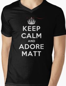 Keep Calm and Adore Matt From Vampire Diaries DS Mens V-Neck T-Shirt