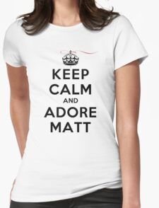 Keep Calm and Adore Matt From Vampire Diaries LS Womens Fitted T-Shirt