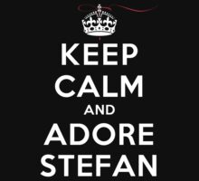 Keep Calm and Adore Stefan From Vampire Diaries DS by rachaelroyalty