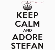 Keep Calm and Adore Stefan From Vampire Diaries LS T-Shirt