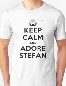Keep Calm and Adore Stefan From Vampire Diaries LS Unisex T-Shirt