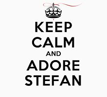 Keep Calm and Adore Stefan From Vampire Diaries LS Womens Fitted T-Shirt