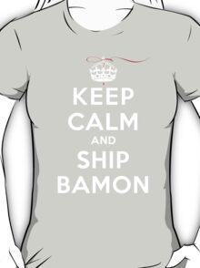 Keep Calm and SHIP Bamon (Vampire Diaries) DS T-Shirt