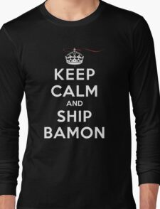 Keep Calm and SHIP Bamon (Vampire Diaries) DS Long Sleeve T-Shirt