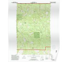 USGS Topo Map Washington State WA Churchill Mtn 240528 1992 24000 Poster