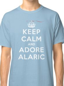 Keep Calm and Adore Alaric From Vampire Diaries DS Classic T-Shirt