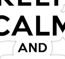 Keep Calm and Adore Alaric From Vampire Diaries LS Sticker