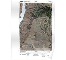 USGS Topo Map Washington State WA Orondo 20110411 TM Poster