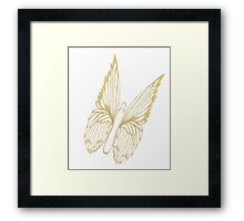 Gold Butterfly for colouring Framed Print