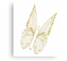 Gold Butterfly for colouring Canvas Print