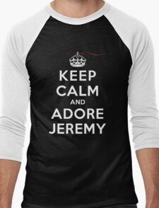 Keep Calm and Adore Jeremy From Vampire Diaries DS Men's Baseball ¾ T-Shirt