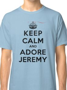 Keep Calm and Adore Jeremy From Vampire Diaries LS Classic T-Shirt