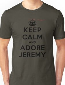 Keep Calm and Adore Jeremy From Vampire Diaries LS Unisex T-Shirt