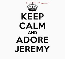Keep Calm and Adore Jeremy From Vampire Diaries LS Womens Fitted T-Shirt