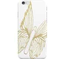 Gold Butterfly for colouring iPhone Case/Skin