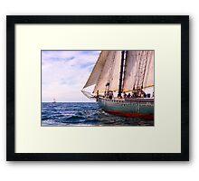 Aboard The Adventurer Framed Print