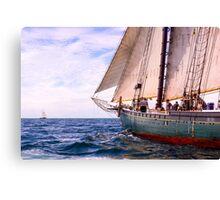 Aboard The Adventurer Canvas Print