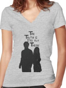 The Truth is Still Out There Women's Fitted V-Neck T-Shirt