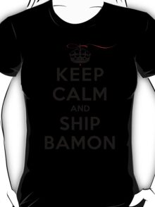 Keep Calm and SHIP Bamon (Vampire Diaries) LS T-Shirt