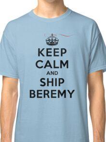 Keep Calm and SHIP Beremy (Vampire Diaries) LS Classic T-Shirt