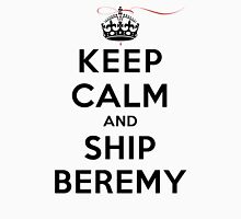Keep Calm and SHIP Beremy (Vampire Diaries) LS Womens Fitted T-Shirt