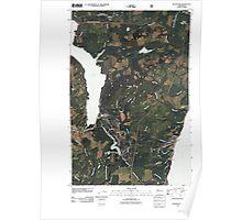 USGS Topo Map Washington State WA Hoodsport 20110519 TM Poster