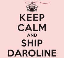 Keep Calm and SHIP Daroline (Vampire Diaries) LS T-Shirt