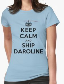 Keep Calm and SHIP Daroline (Vampire Diaries) LS Womens Fitted T-Shirt