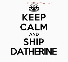 Keep Calm and SHIP Datherine (Vampire Diaries) LS Womens Fitted T-Shirt