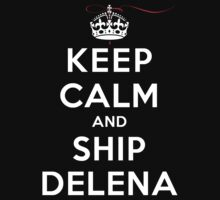 Keep Calm and SHIP Delena (Vampire Diaries) DS by rachaelroyalty