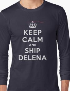 Keep Calm and SHIP Delena (Vampire Diaries) DS Long Sleeve T-Shirt