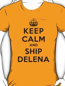 Keep Calm and SHIP Delena (Vampire Diaries) LS T-Shirt