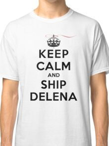 Keep Calm and SHIP Delena (Vampire Diaries) LS Classic T-Shirt