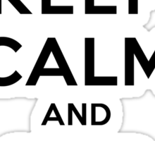 Keep Calm and SHIP Delena (Vampire Diaries) LS Sticker