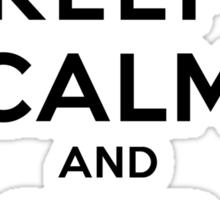 Keep Calm and SHIP Delena (Vampire Diaries) LS Sticker