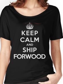 Keep Calm and SHIP Forwood (Vampire Diaries) DS Women's Relaxed Fit T-Shirt