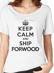 Keep Calm and SHIP Forwood (Vampire Diaries) LS Women's Relaxed Fit T-Shirt