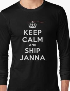 Keep Calm and SHIP Janna (Vampire Diaries) DS Long Sleeve T-Shirt