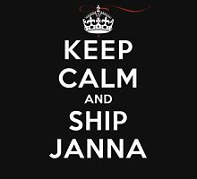 Keep Calm and SHIP Janna (Vampire Diaries) DS Womens Fitted T-Shirt