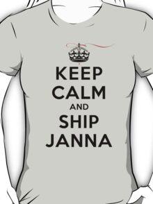 Keep Calm and SHIP Janna (Vampire Diaries) LS T-Shirt
